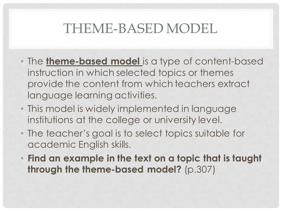 Theme-based model