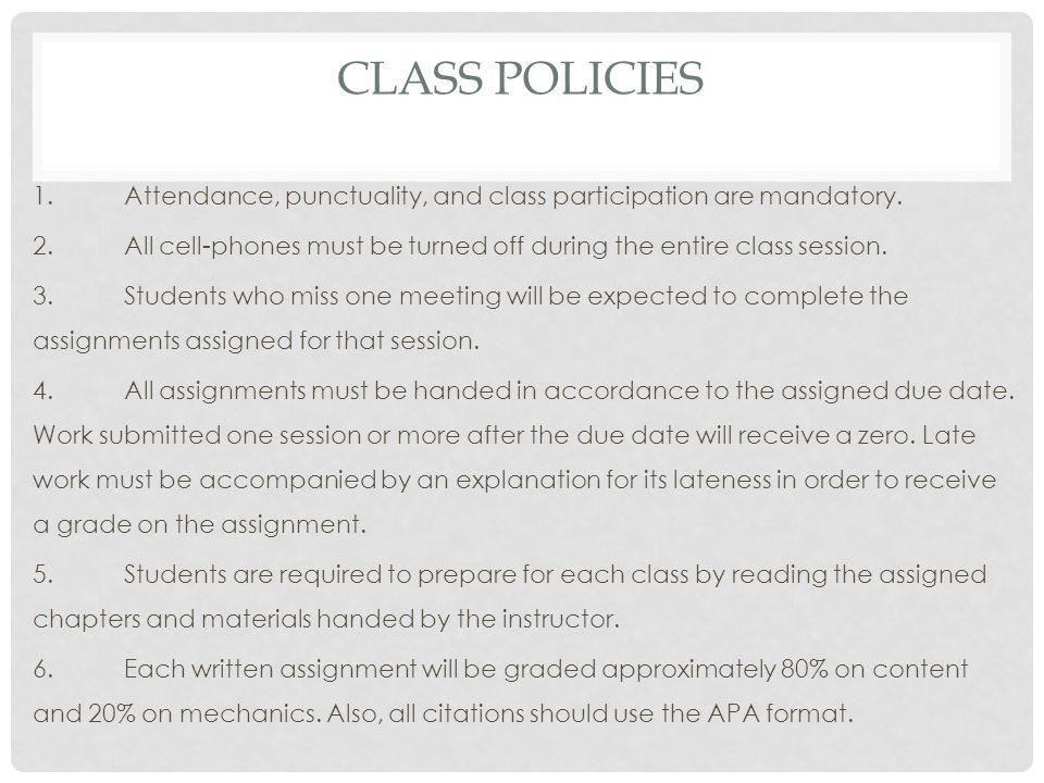 Class Policies