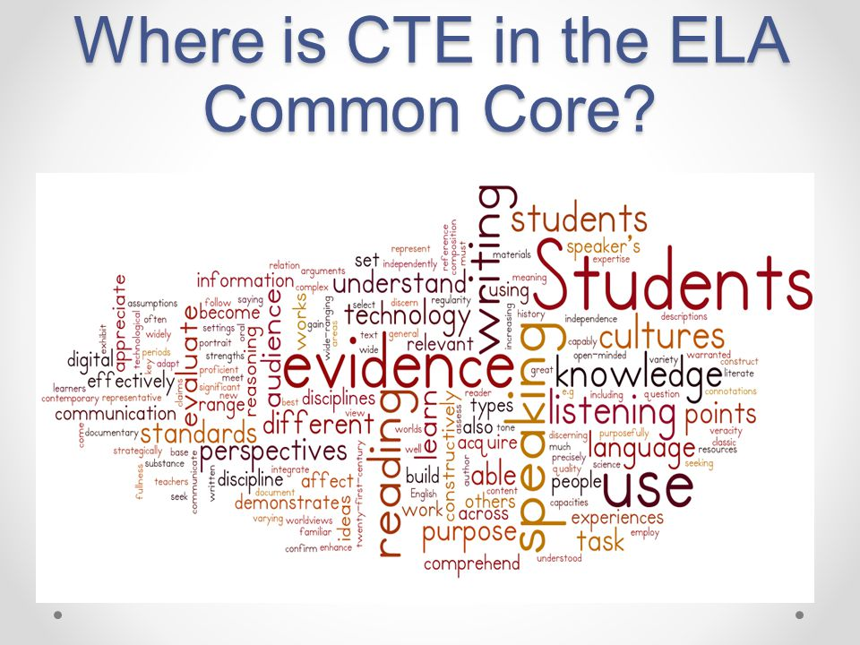 Where is CTE in the ELA Common Core