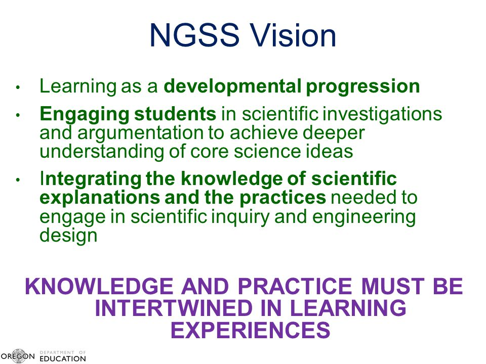 KNOWLEDGE AND PRACTICE MUST BE INTERTWINED IN LEARNING EXPERIENCES