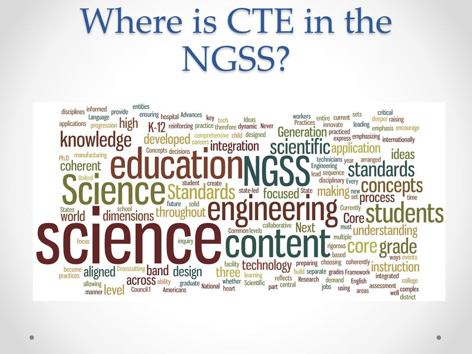 Where is CTE in the NGSS