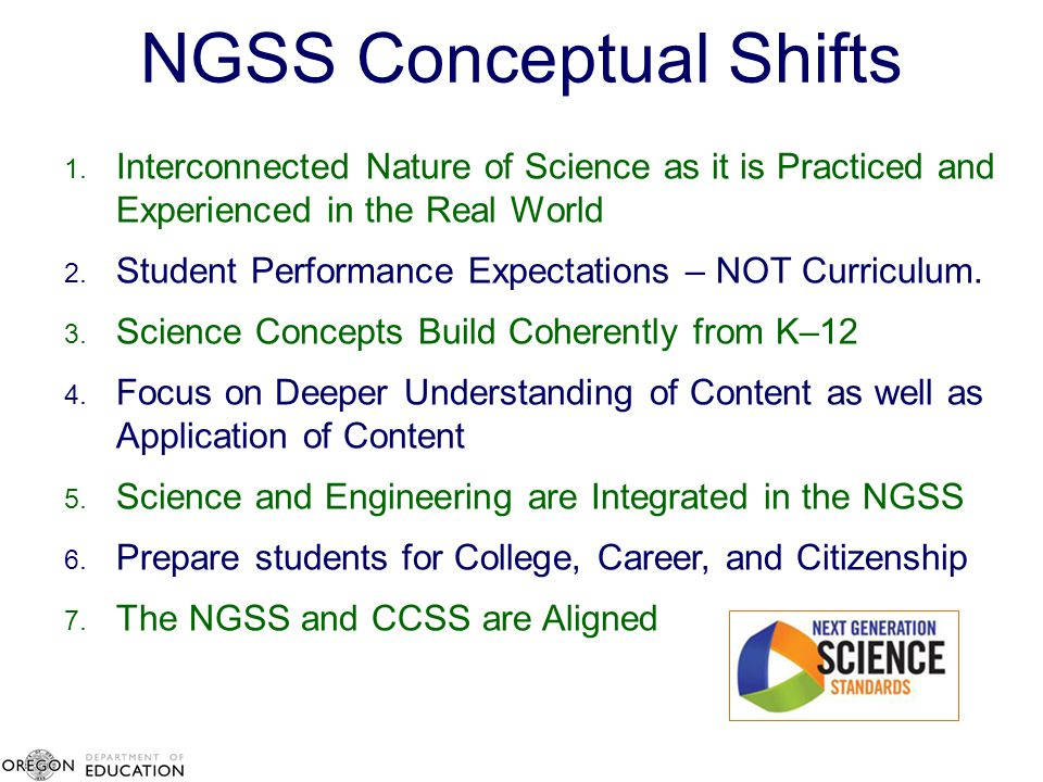 NGSS Conceptual Shifts