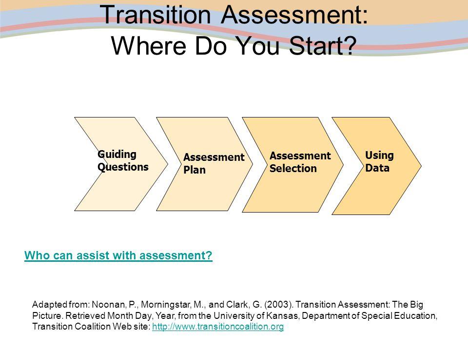 Transition Assessment: Where Do You Start