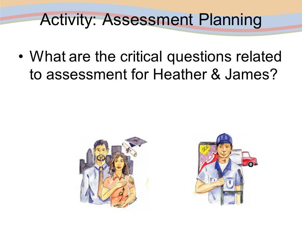 Activity: Assessment Planning