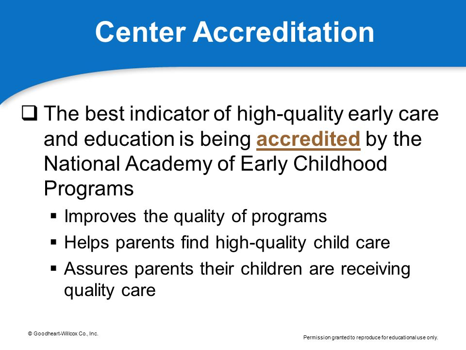 Center Accreditation