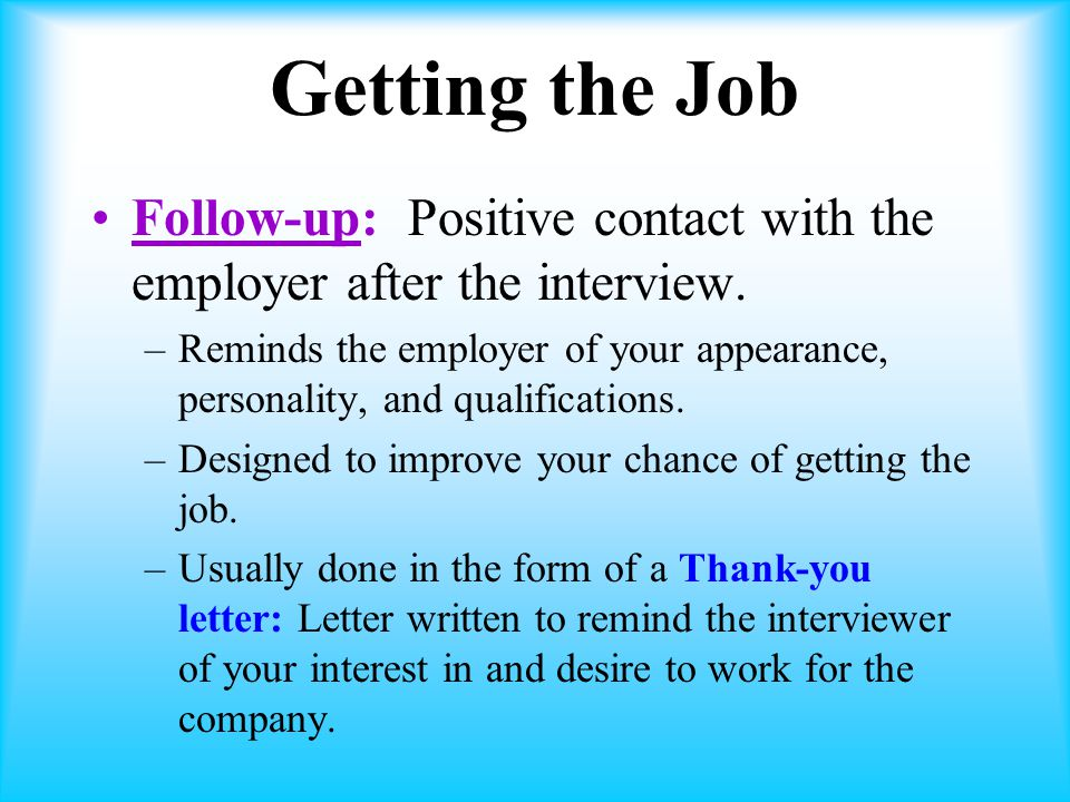 how to follow up with hr after getting the job
