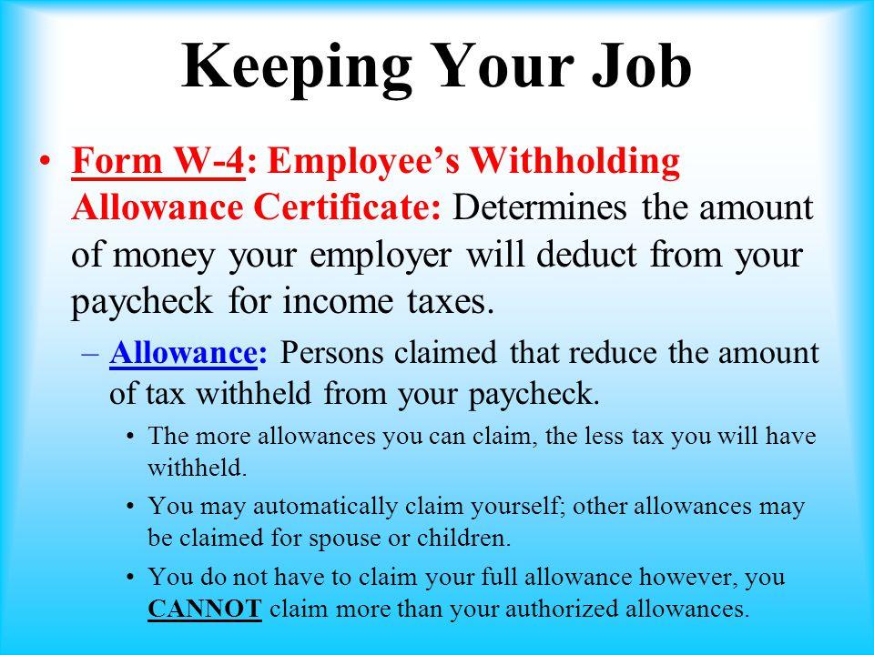Keeping Your Job