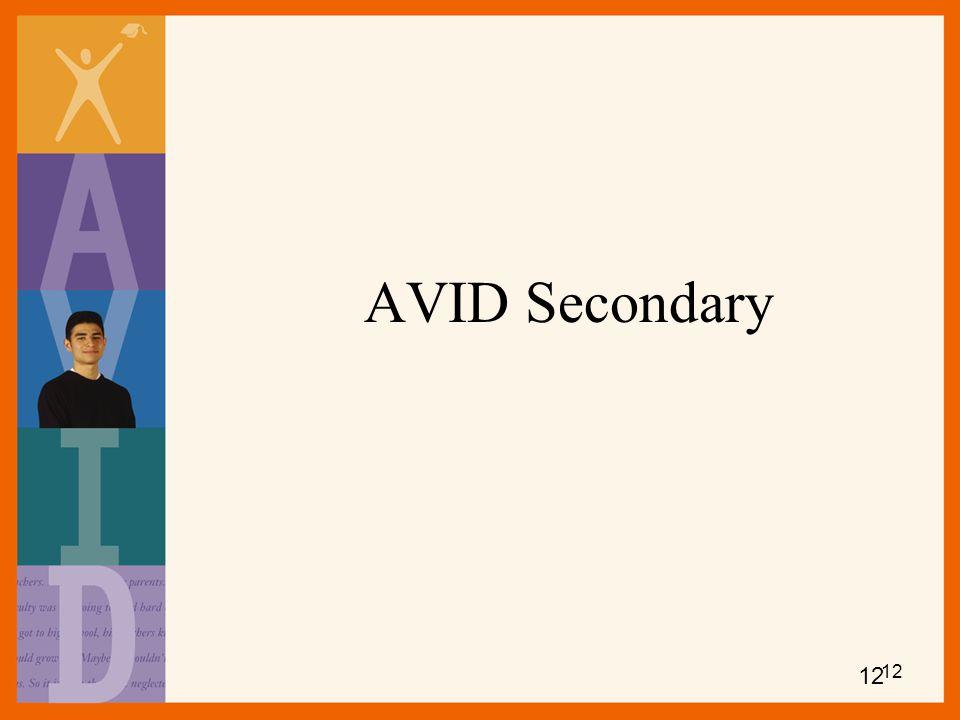 AVID Secondary 12