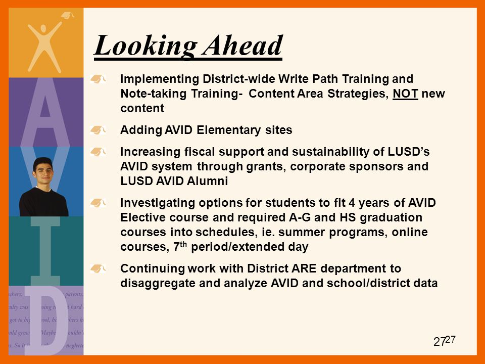 Looking Ahead Implementing District-wide Write Path Training and