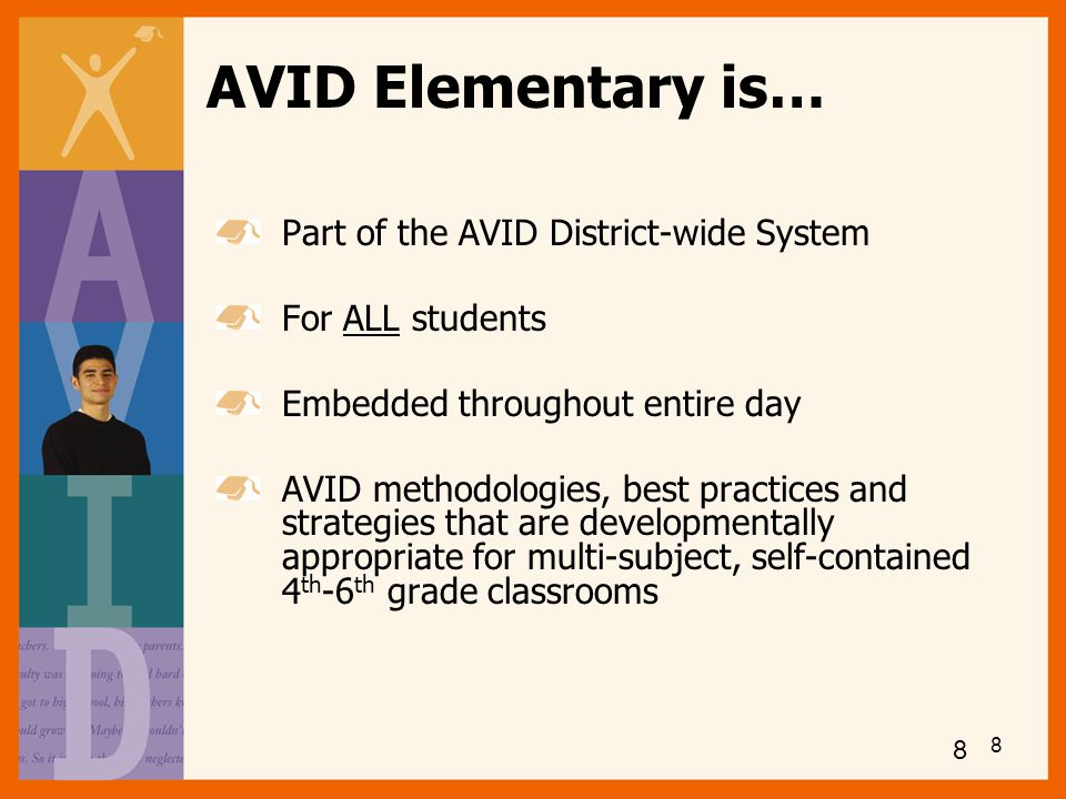 AVID Elementary is… Part of the AVID District-wide System