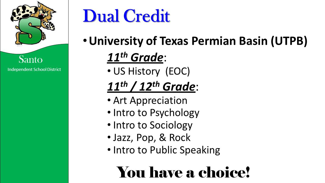 Dual Credit 11th Grade: University of Texas Permian Basin (UTPB)