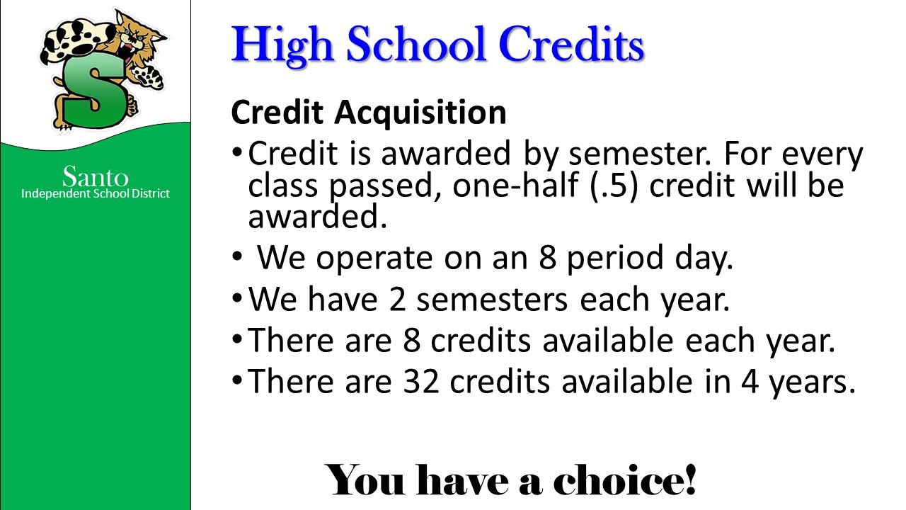 High School Credits Credit Acquisition