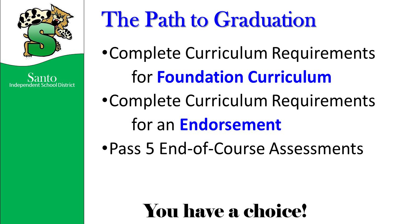 The Path to Graduation Complete Curriculum Requirements
