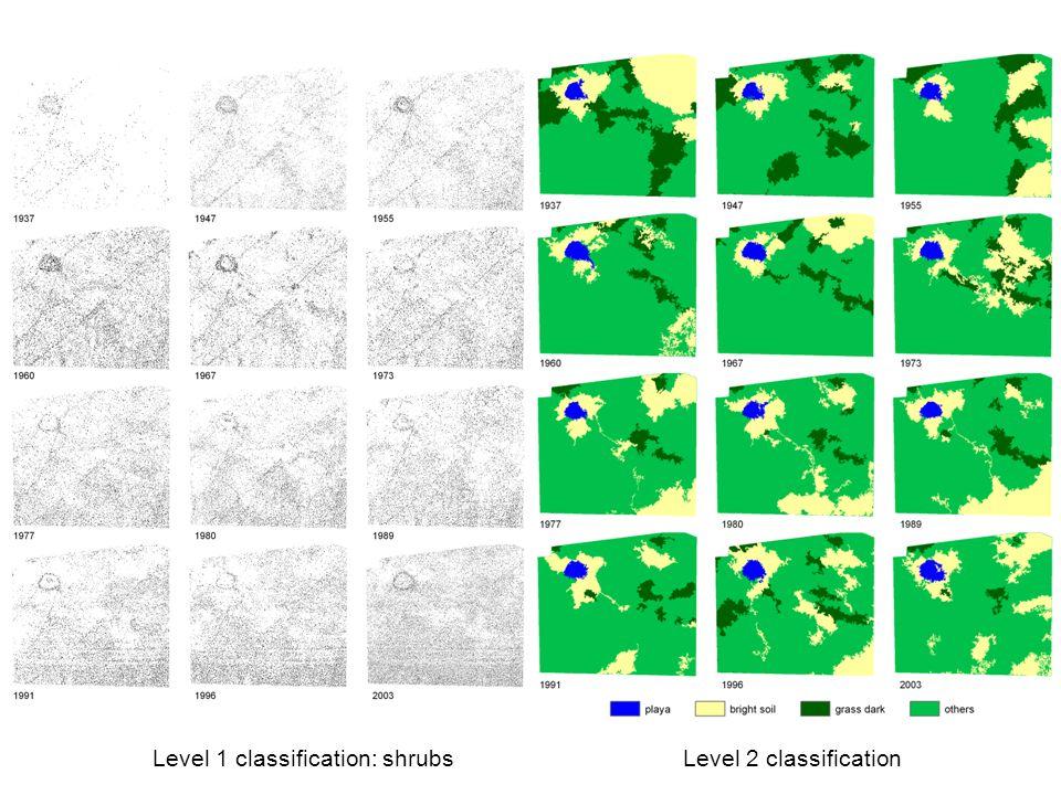 Level 2 classification Level 1 classification: shrubs