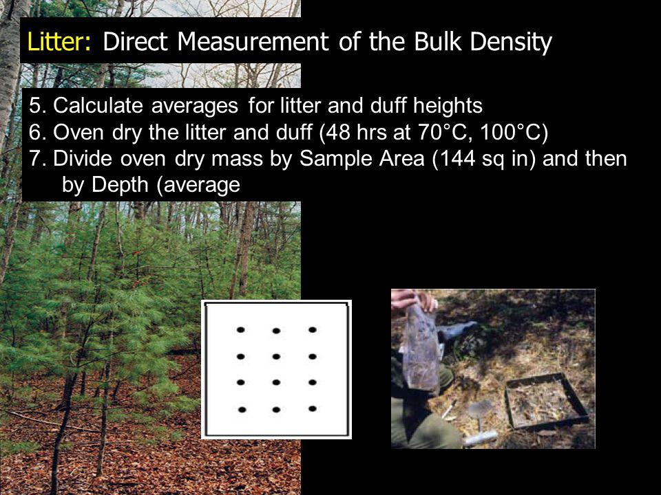 Litter: Direct Measurement of the Bulk Density