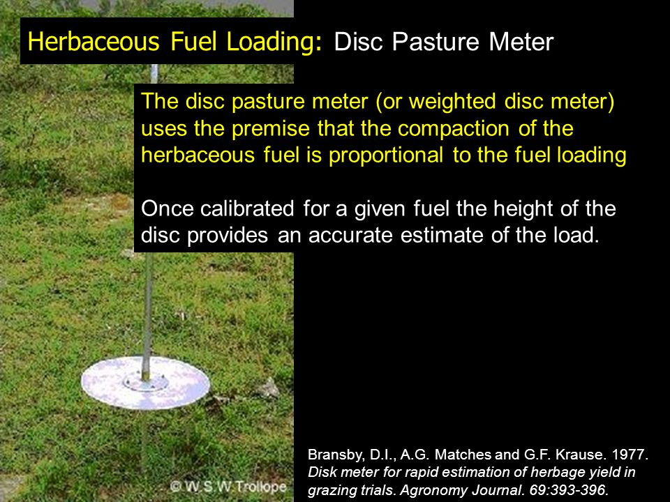 Herbaceous Fuel Loading: Disc Pasture Meter