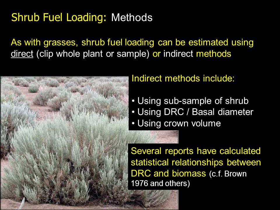 Shrub Fuel Loading: Methods