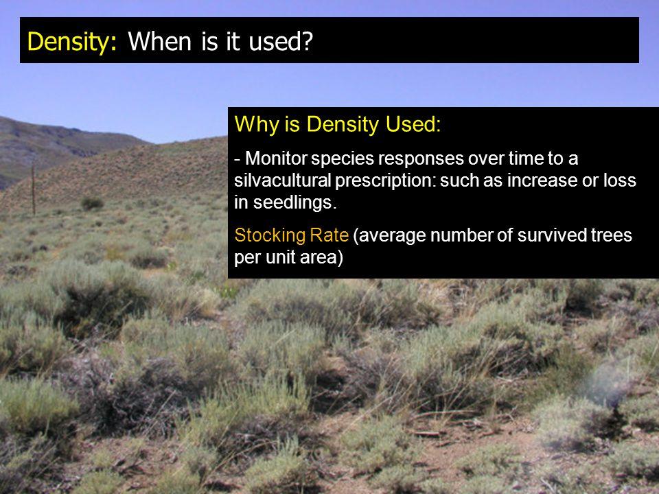 Density: When is it used