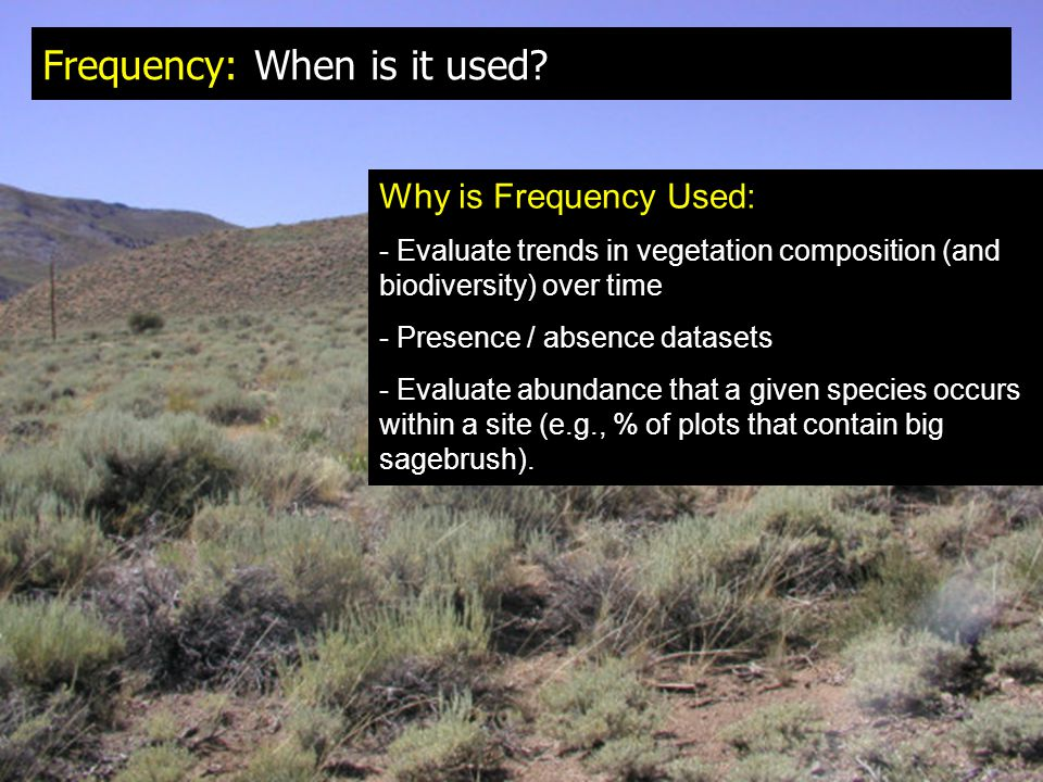 Frequency: When is it used