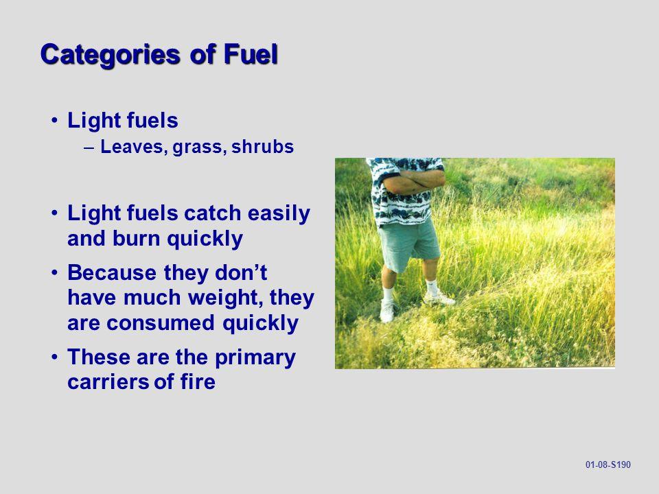 Categories of Fuel Light fuels