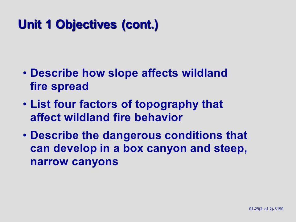 Unit 1 Objectives (cont.)