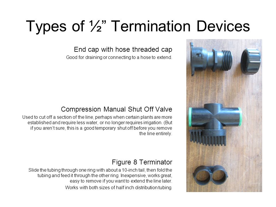 Types of ½ Termination Devices