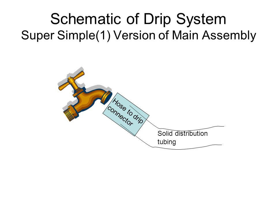 Schematic of Drip System Super Simple(1) Version of Main Assembly