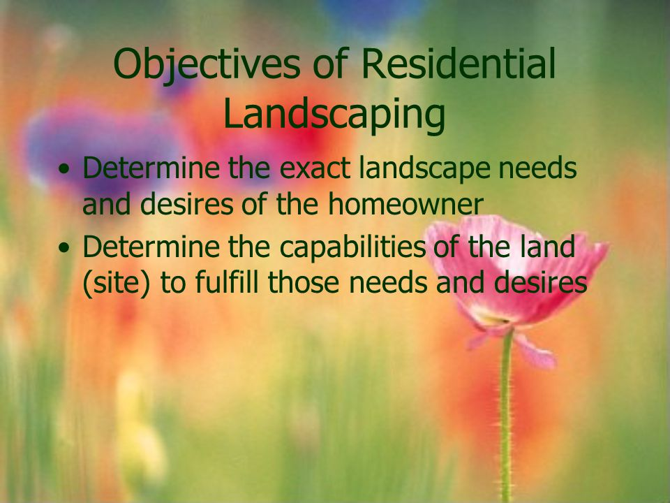 Objectives of Residential Landscaping