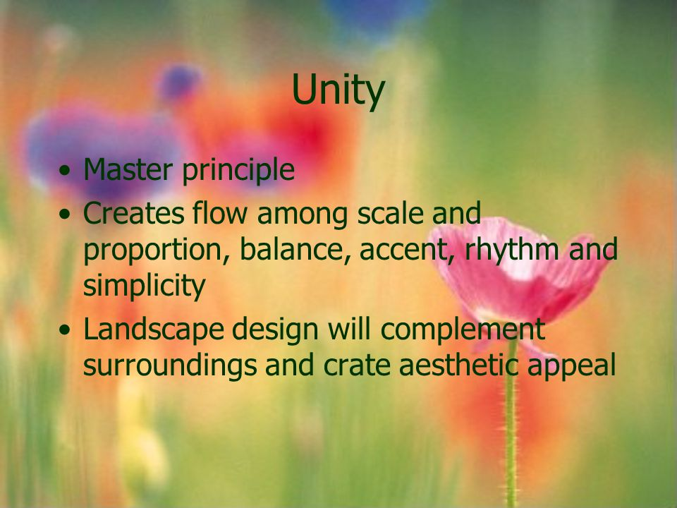 Unity Master principle