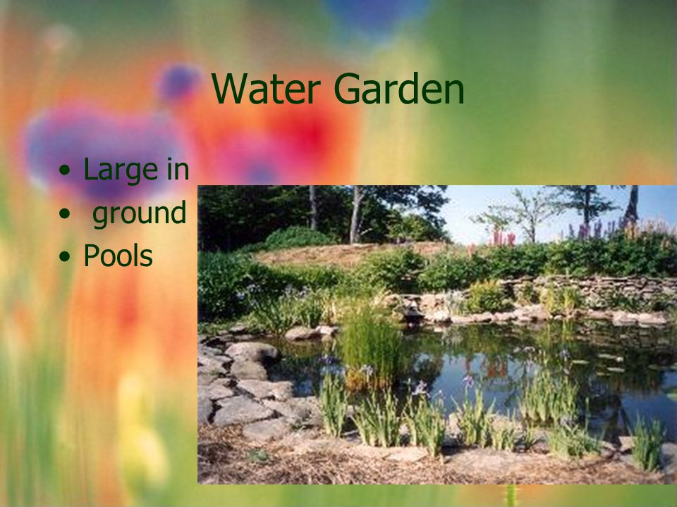 Water Garden Large in ground Pools
