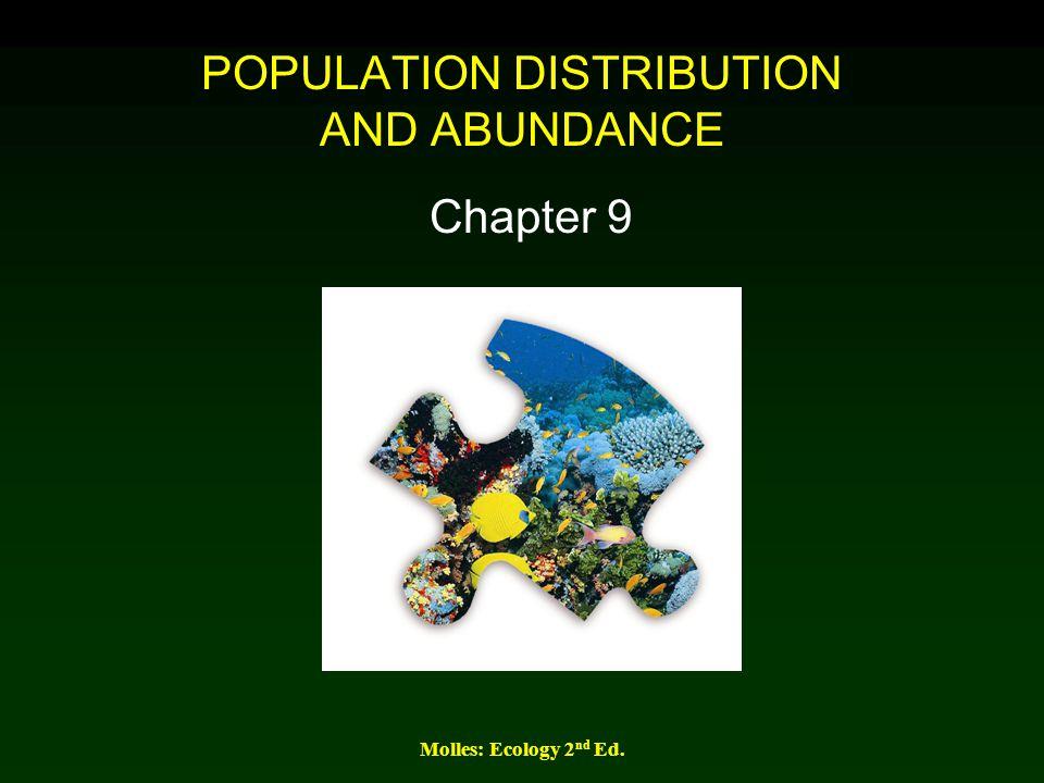 POPULATION DISTRIBUTION AND ABUNDANCE