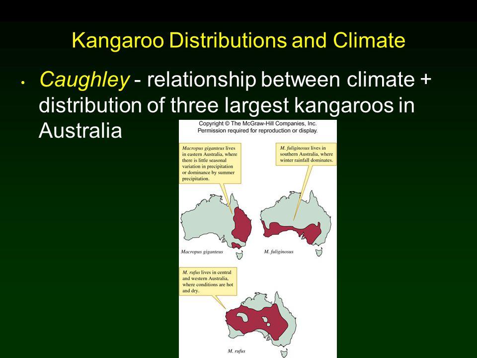 Kangaroo Distributions and Climate