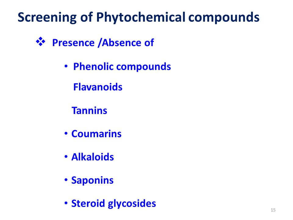 Screening of Phytochemical compounds