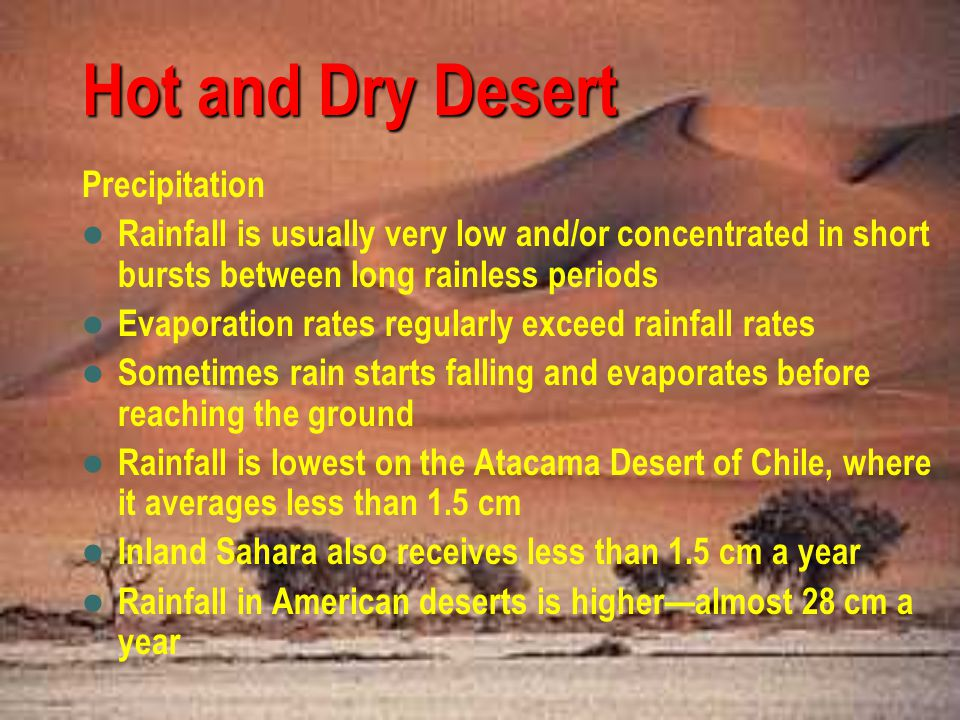 Hot and Dry Desert Precipitation