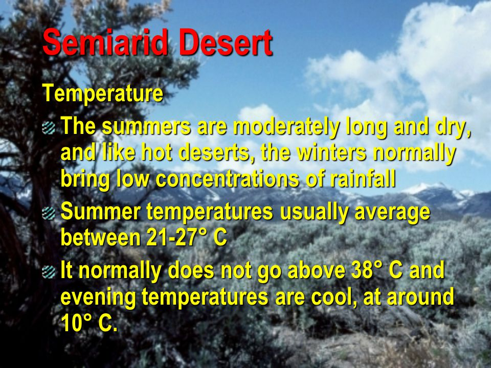Semiarid Desert Temperature