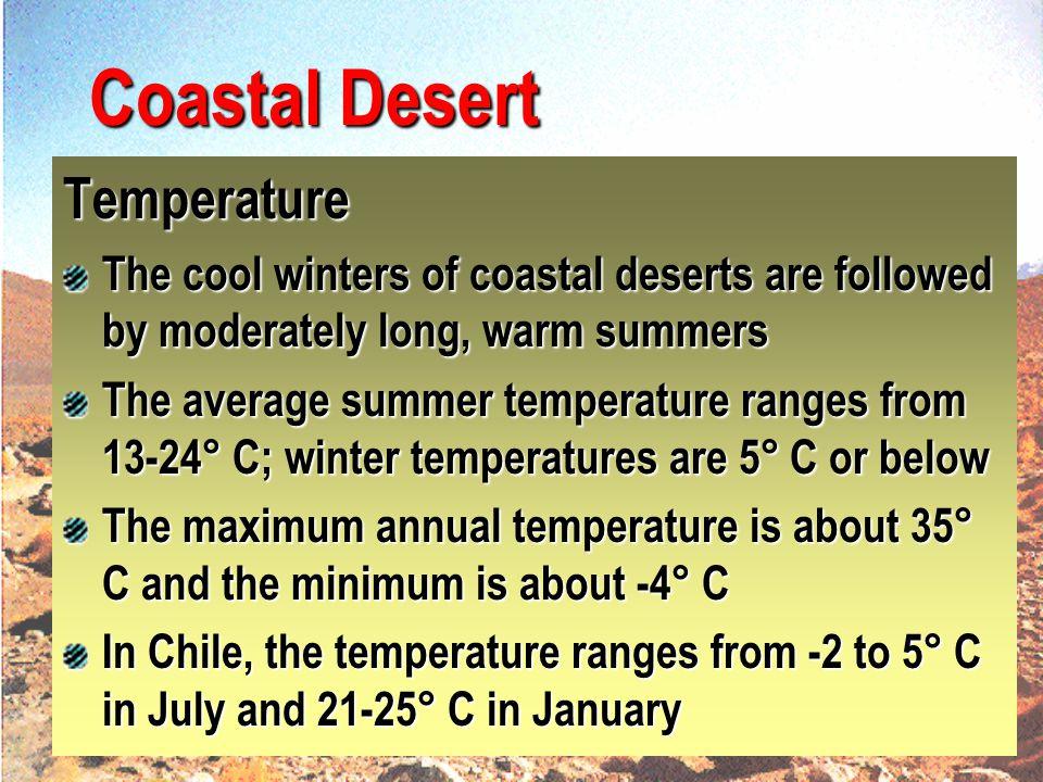 Coastal Desert Temperature