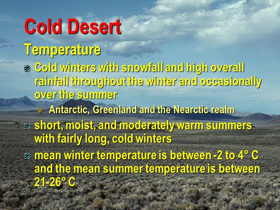 Cold Desert Temperature