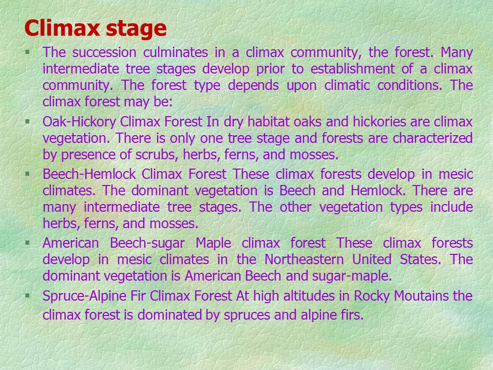 Climax stage
