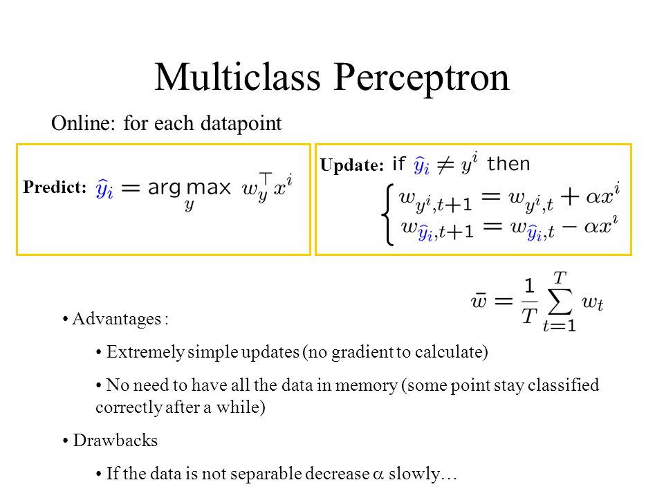 Multiclass Perceptron