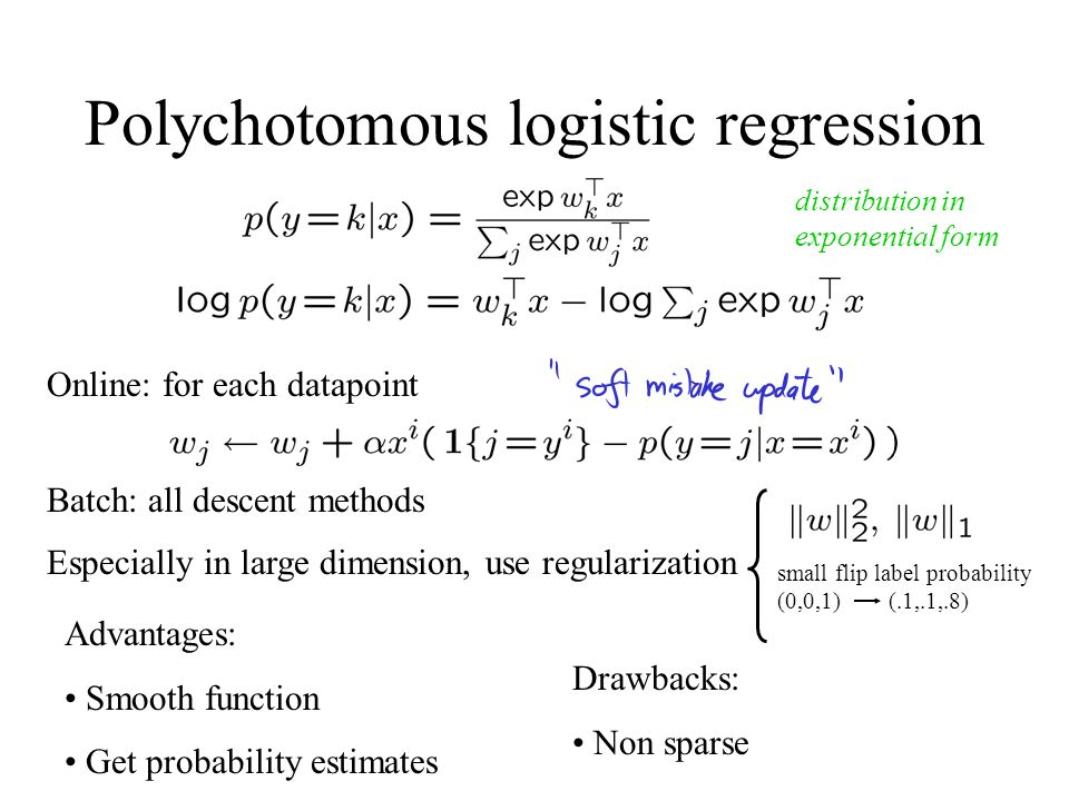 Polychotomous logistic regression