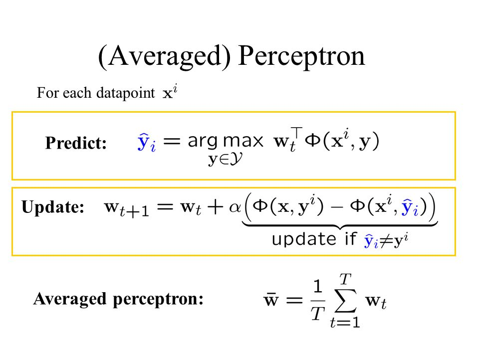 (Averaged) Perceptron