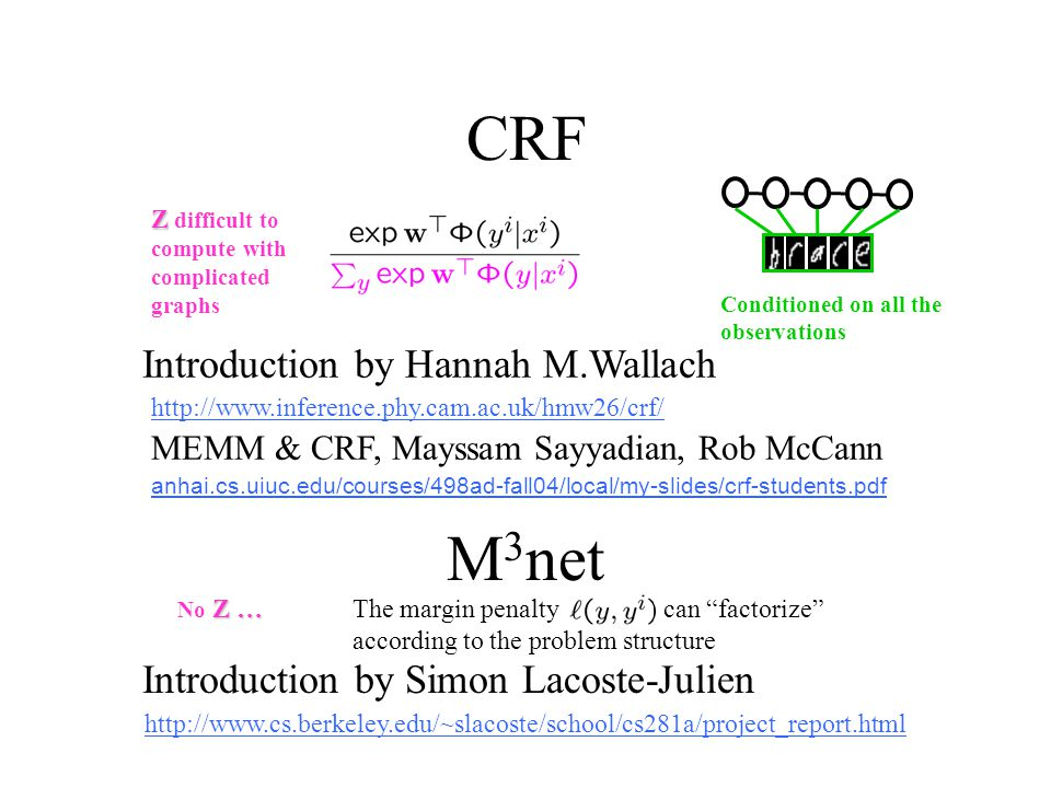 CRF M3net Introduction by Hannah M.Wallach