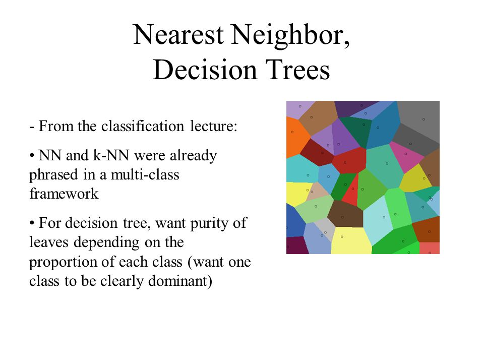 Nearest Neighbor, Decision Trees