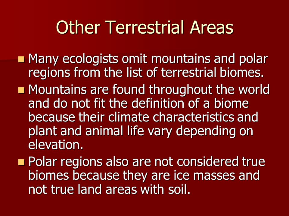 Other Terrestrial Areas
