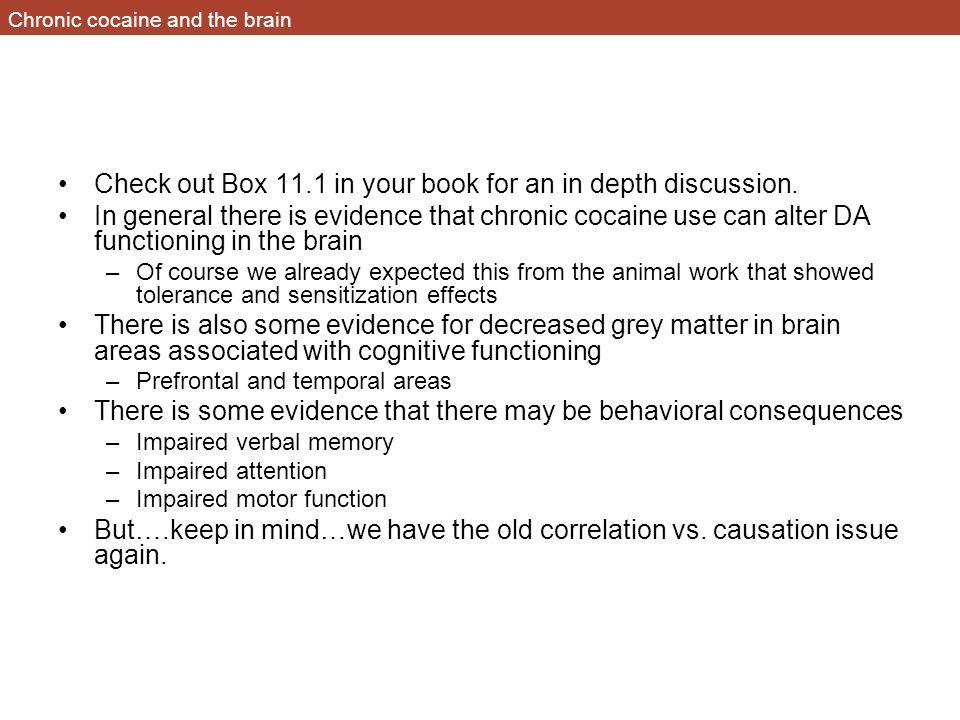 Chronic cocaine and the brain