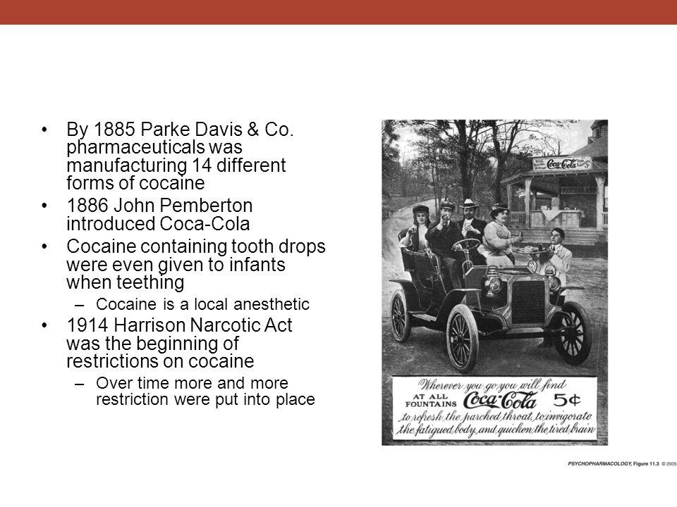 1886 John Pemberton introduced Coca-Cola
