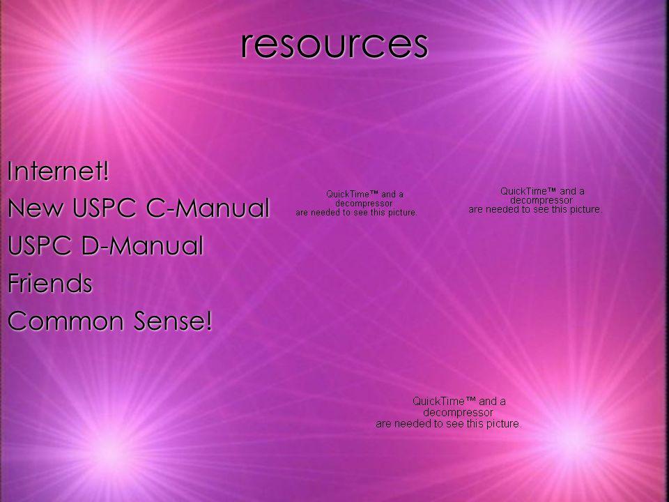 resources Internet! New USPC C-Manual USPC D-Manual Friends