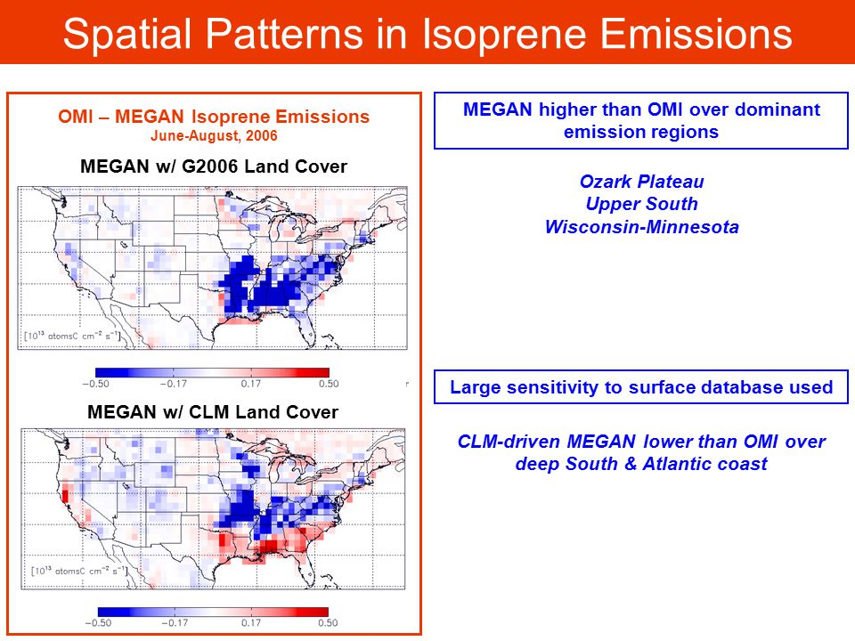 Spatial Patterns in Isoprene Emissions