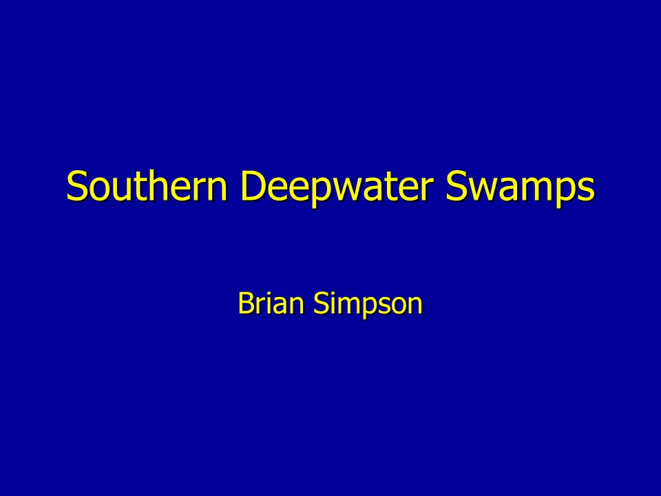 Southern Deepwater Swamps