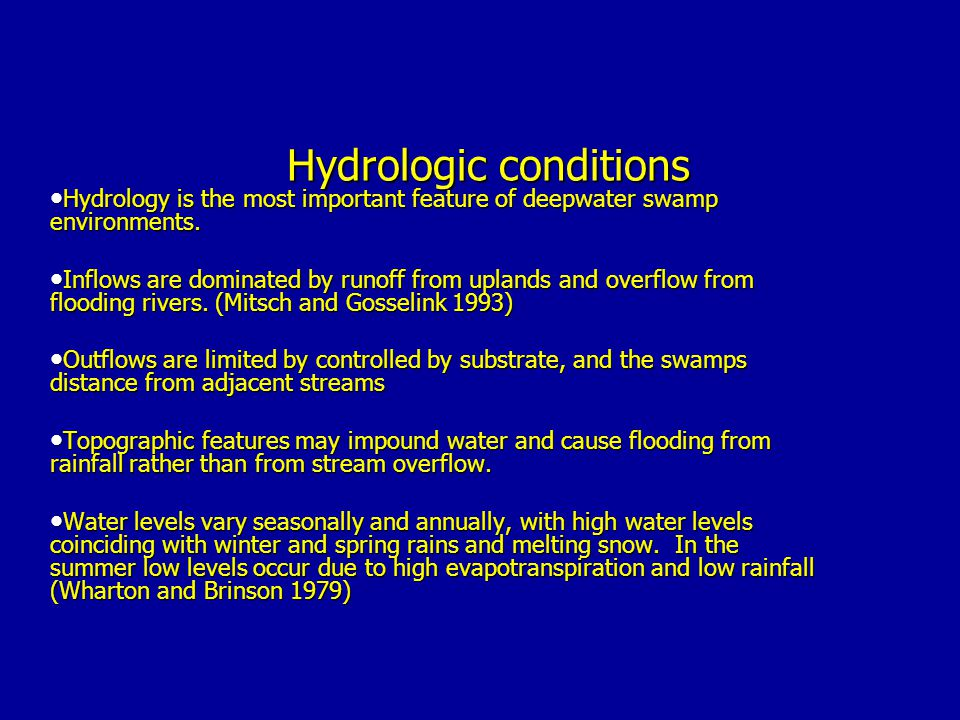 Hydrologic conditions